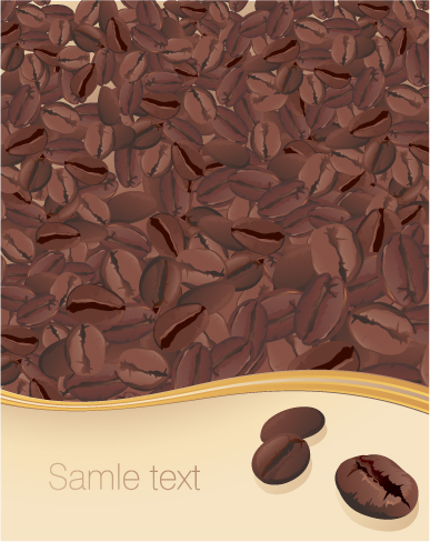 free vector Vector coffee beans and coffee posters