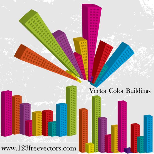 free vector Vector Color Buildings