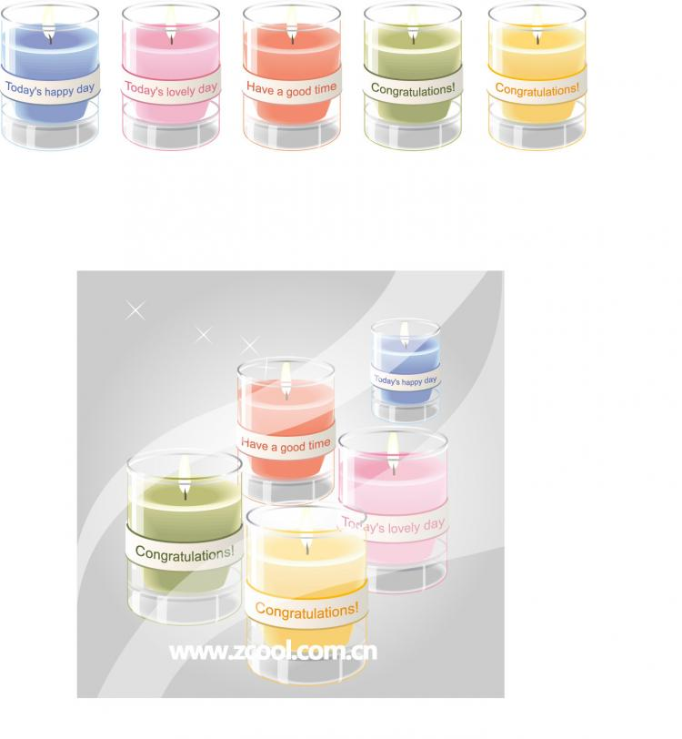 free vector Vector color candles