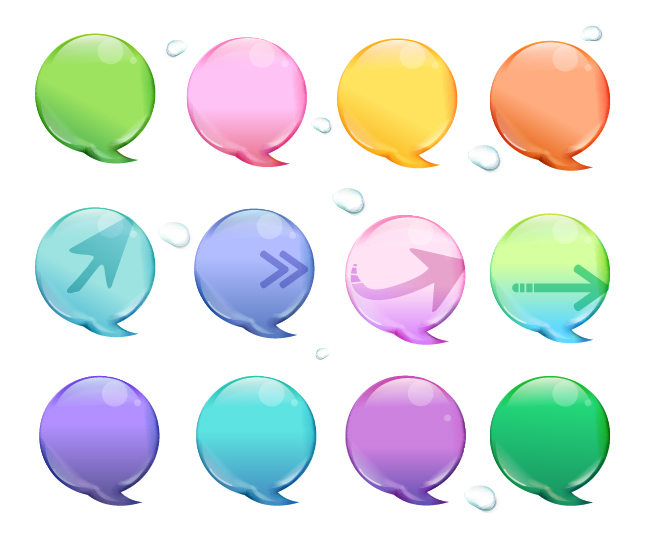 free vector Vector color dialog bubble