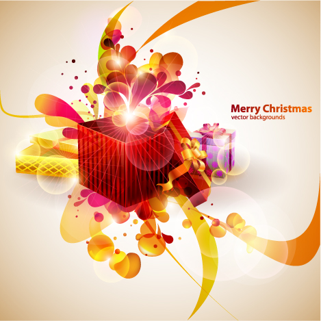 free vector Vector colorful christmas gift