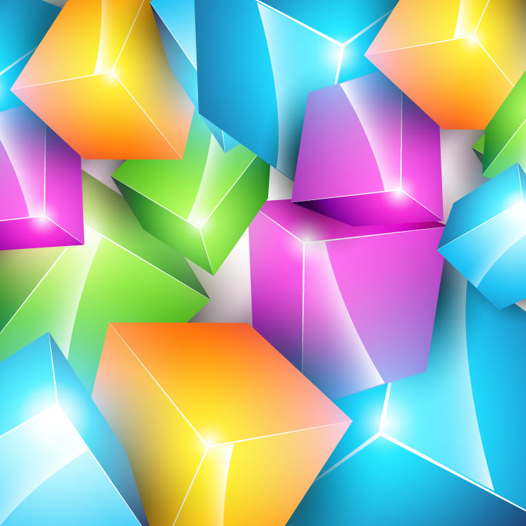 free vector Vector Colorful Cube Background