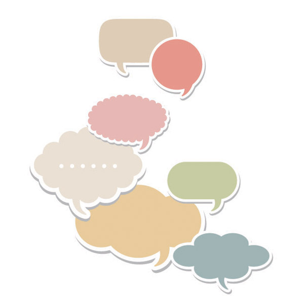 free vector Vector colorful dialogue bubbles