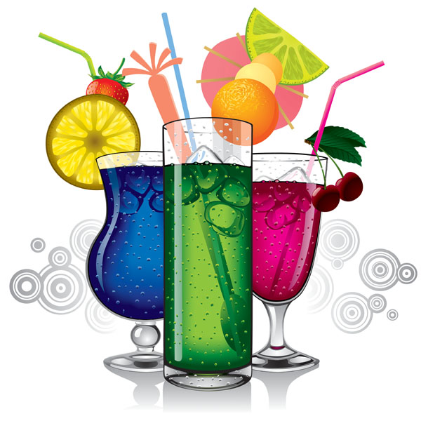 free vector Vector colorful drinks