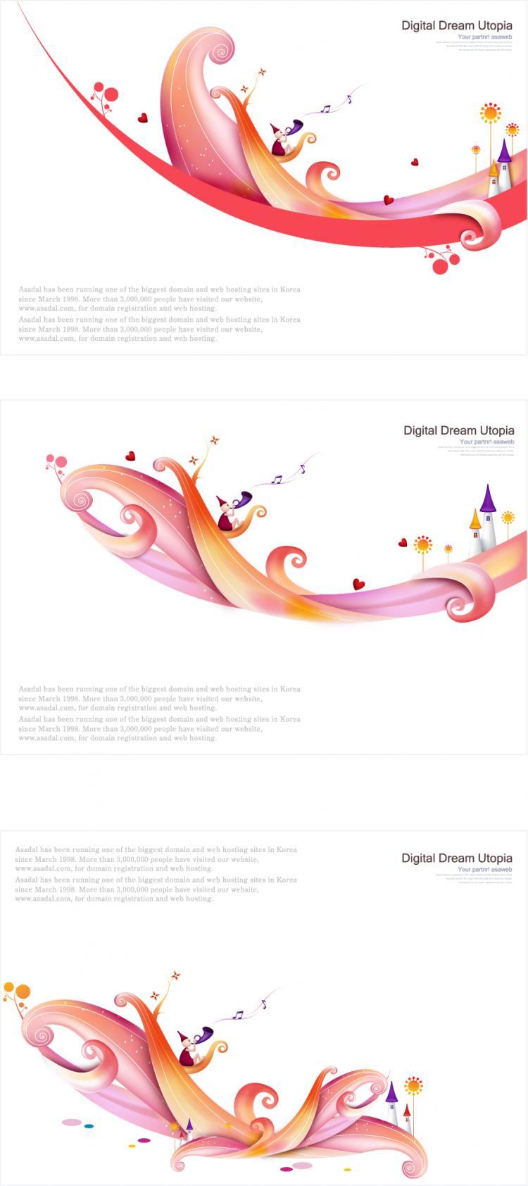 free vector Vector colorful fairytale world