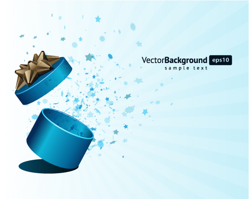 free vector Vector colorful gift box