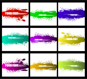 free vector Vector colorful ink strokes