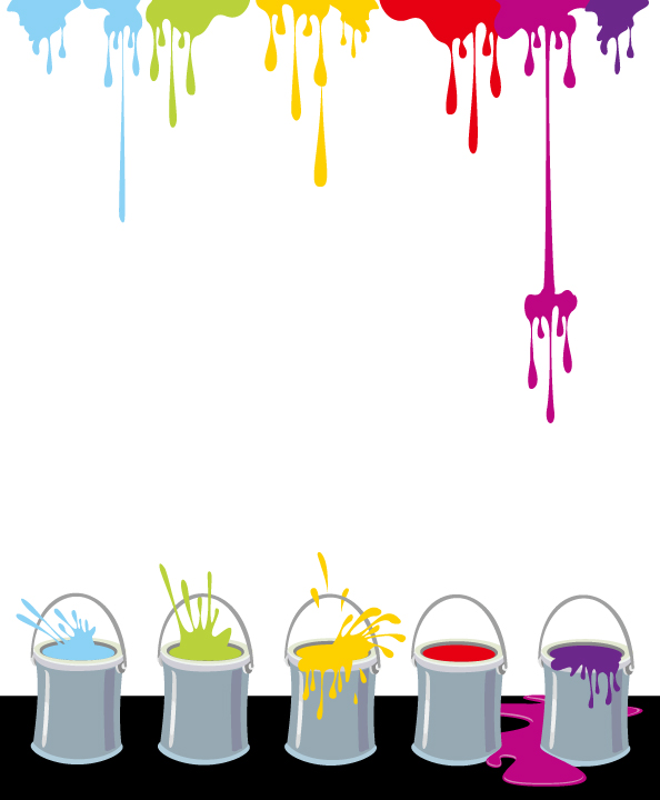free vector Vector colorful paint