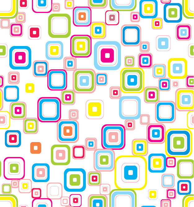 free vector Vector Colorful Seamless Retro Pattern With Rounded Squares