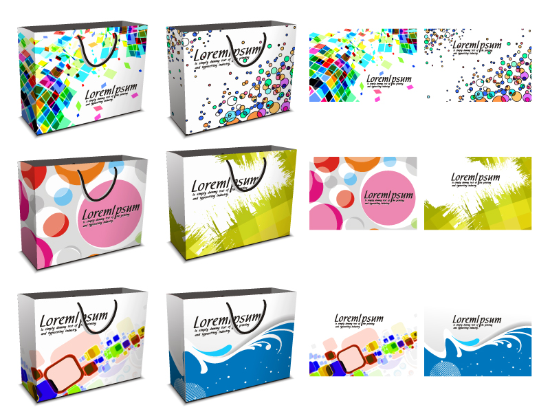 free vector Vector colorful shopping bags