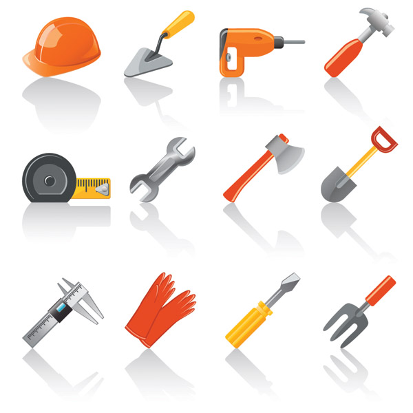 Vector common household tools free vector 4vector - Household tools ...