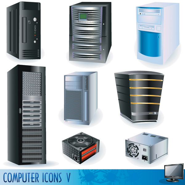free vector Vector computers and peripheral hardware