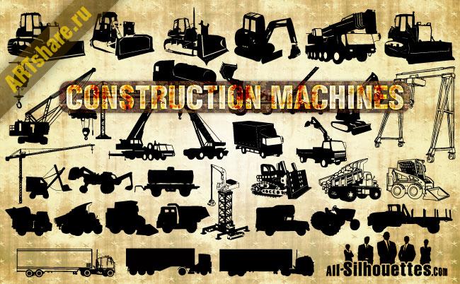free vector Vector Construction Machines