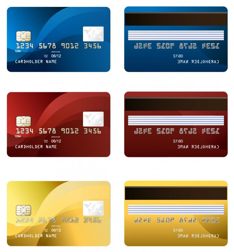 free vector Vector credit card two sides