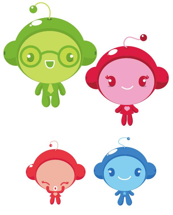 free vector Vector cute alien