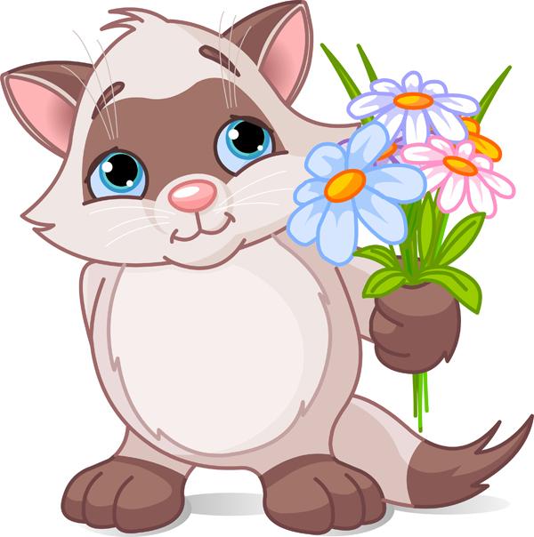 free vector Vector cute cat