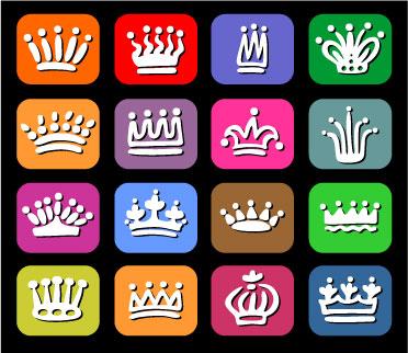 free vector Vector cute crown
