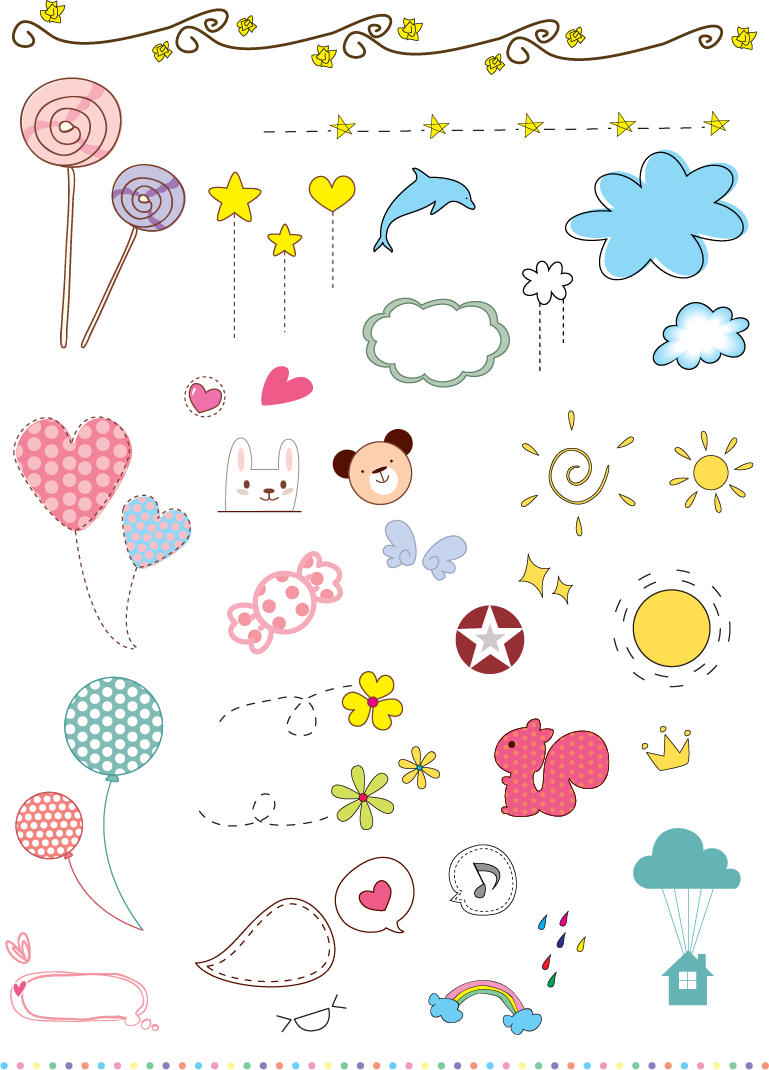 free vector Vector Cute Elements