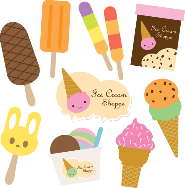 free vector Vector cute ice cream