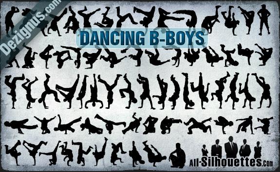 free vector Vector Dancing B-boys