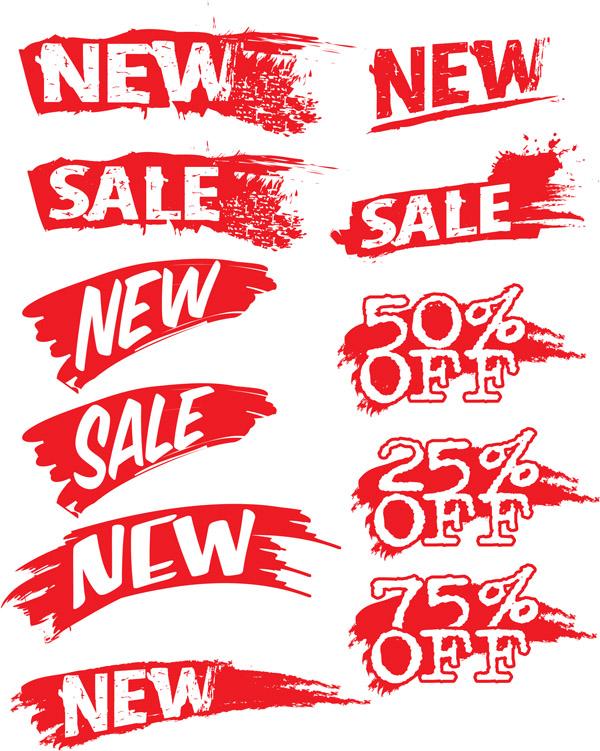 free vector Vector decorative sales discount