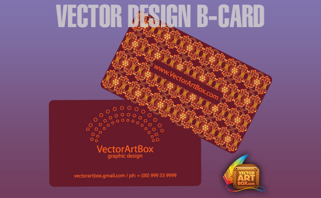 free vector Vector Design B-card