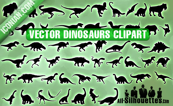 free vector Vector Dinosaurs Clipart