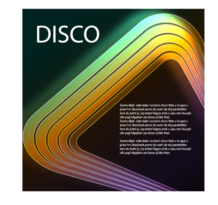 free vector Vector Disco And Rock Themes