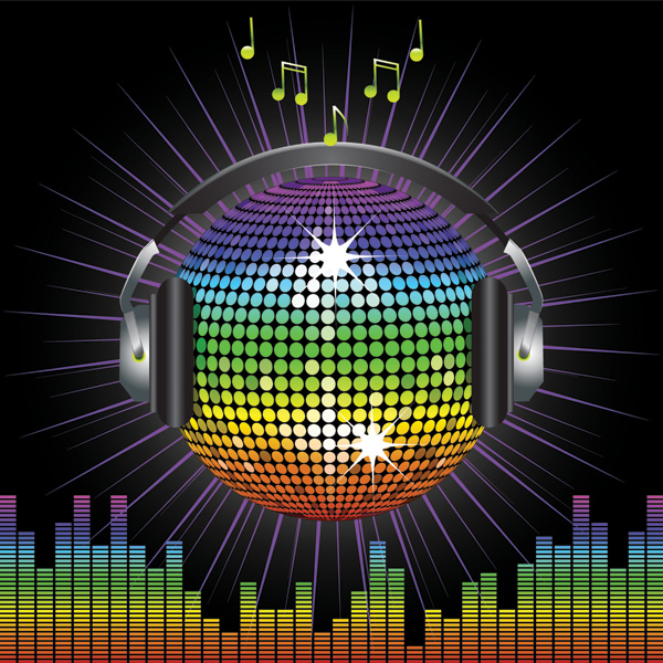 free vector Vector disco crystal ball