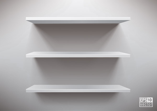 free vector Vector display of shelf space