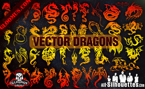 free vector Vector Dragons
