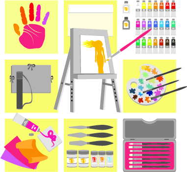 free vector Vector drawing supplies