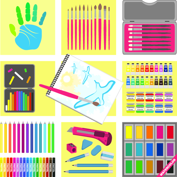 free vector Vector drawing tools series