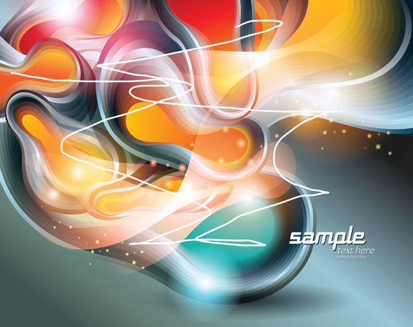free vector Vector dynamic background 2 symphony