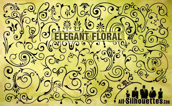 free vector Vector Elegant Florals