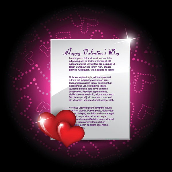 free vector Vector elements of romantic love cards