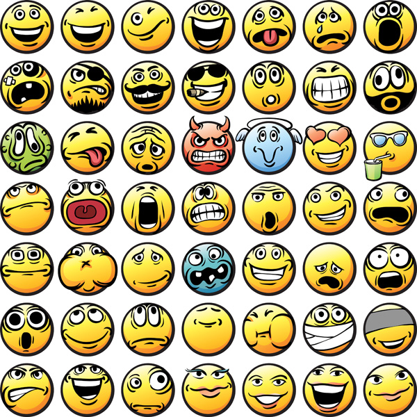 free vector Vector emoticons collection