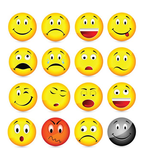 Vector Emoticons Collection Free Vector 4vector