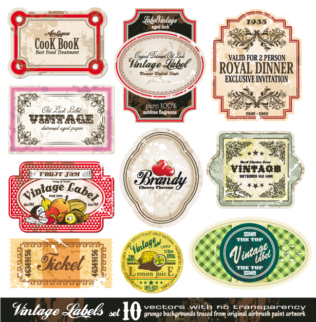 free vector Vector fashion bottle label