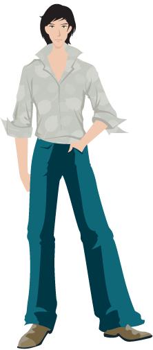 free vector Vector fashion boy