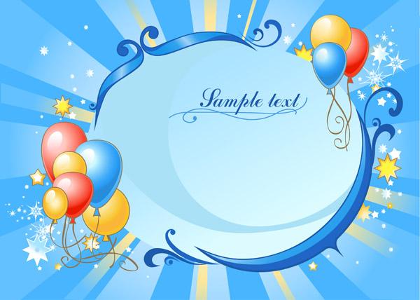 free vector Vector festive balloon festival