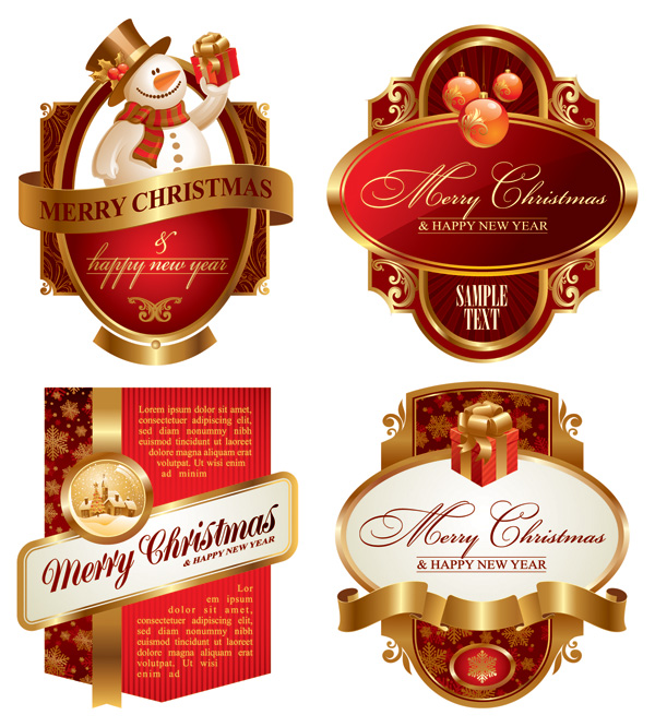 free vector Vector festive label