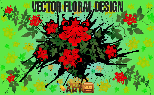 free vector Vector Floral Design