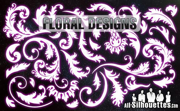 free vector Vector Floral Designs