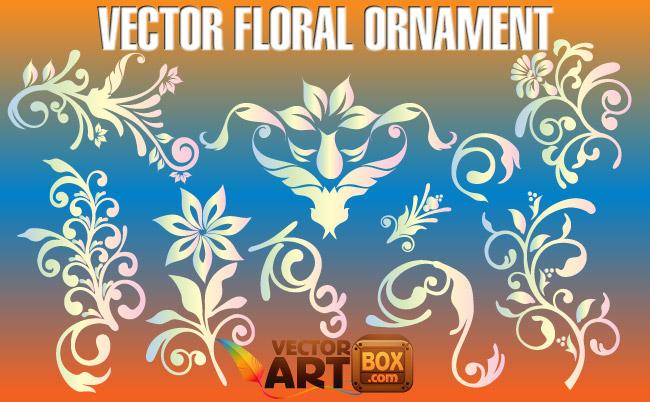 free vector Vector Floral Ornament