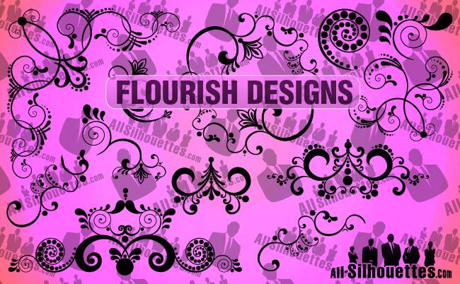 free vector Vector Flourish Designs