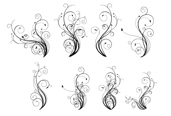 free vector Vector Flourish Pack