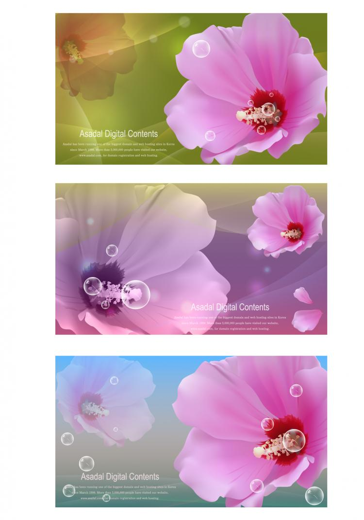 free vector Vector flowers bubbles