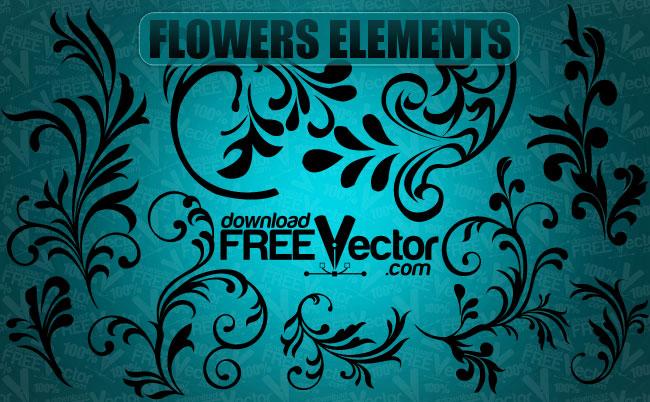free vector Vector Flowers Elements