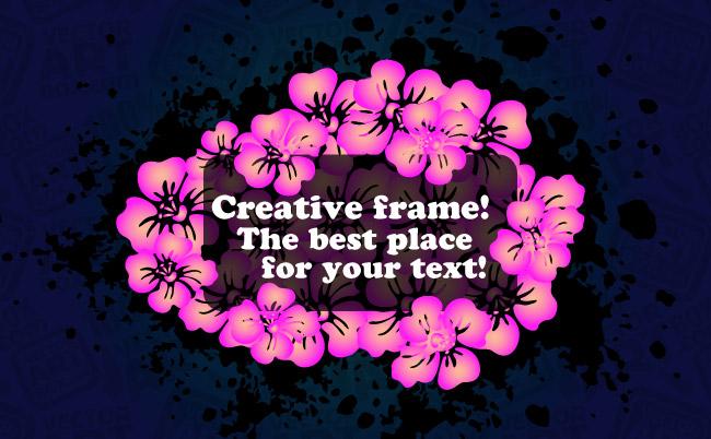 free vector Vector Flowers Frame